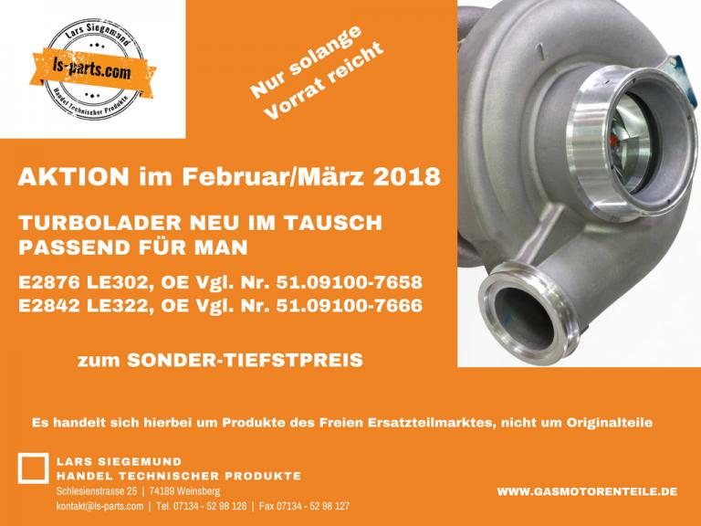 Aktion Turbolader im Februar/März 2018