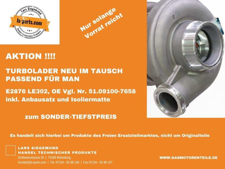 Aktion Turbolader E2876 LE302
