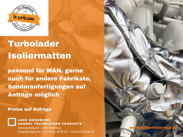Wieder lieferbar !! – Turbolader Isoliermatten passend für MAN